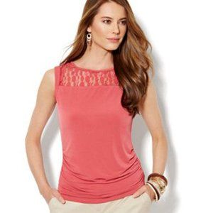 New York & Company Coral Sleeveless Blouse Size S